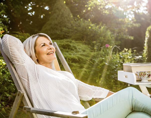 woman on medication enjoying the sun